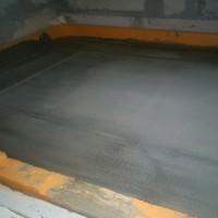 Монтаж теплого пола на лоджии под плитку. заливка стяжки.