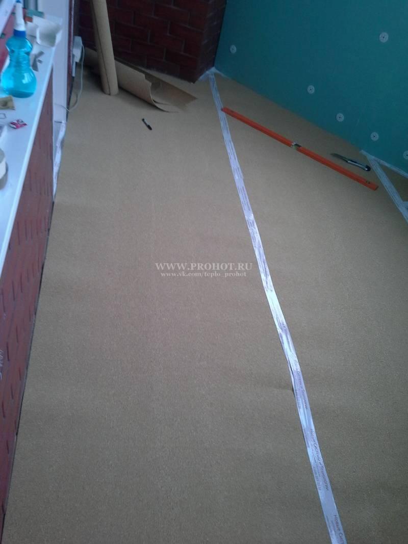Пробковая подложка под теплый пол