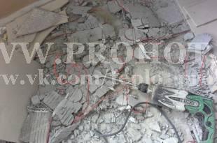 Холодный пол лоджии демонтирован