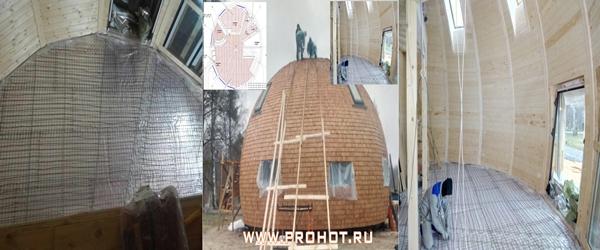 Арт Веретьево. Монтаж нагревательного кабеля Electrolux под стяжку в купольном доме