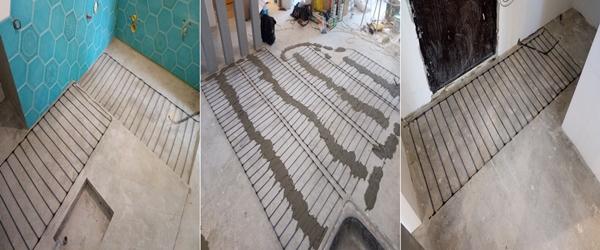 Монтаж стержневого инфракрасного пола Unimat Boost под плитку